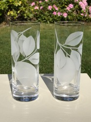 Clear Lemon Glasses glass art by cynthia myers